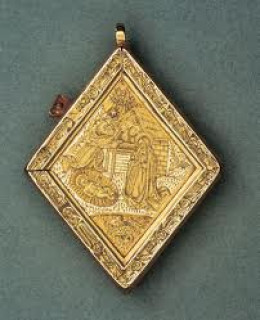 The Middleham Jewel, found at the back of the town at the site of the earlier castle
