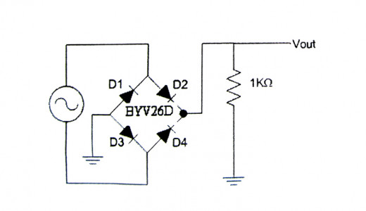 full-wave bridge type rectifier set-up