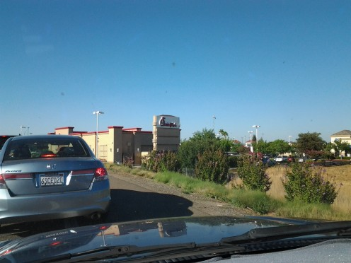 Sitting on the Exit 287 off ramp, the Chick-fil-A in Elk Grove is just in sight.