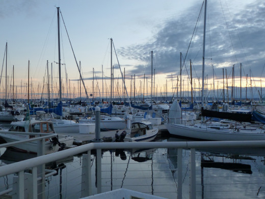 Summer evening at the Shilshole Marina.