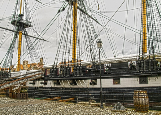 HMS TRINCOMALEE. Fully restored and at permanent anchor at The Hartlepool Maritime museum.