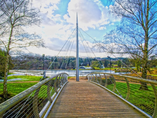 The entrance bridge to Trentham Gardens.