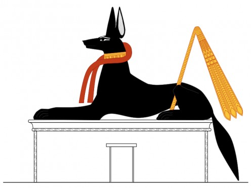 Anubis guarding a tomb