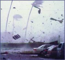 Hurricane Iwa on Kauai 1982
