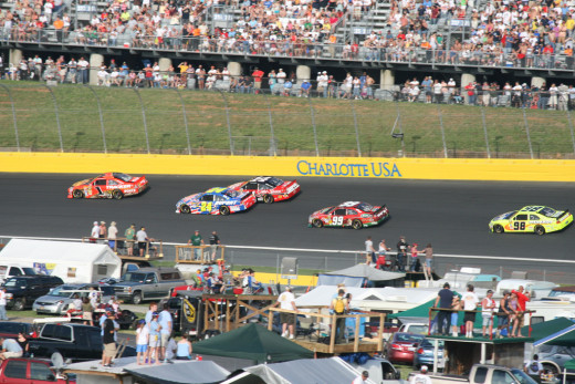 Charlotte Speedway, located in North Carolina where moonshine runners developed a love of fast cars and racing.