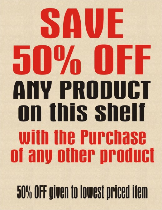 Save 50% off any Product and How it Only Costs Your Business 25% to Make the Sale.