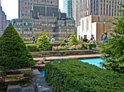 Rockefeller Center rooftop garden