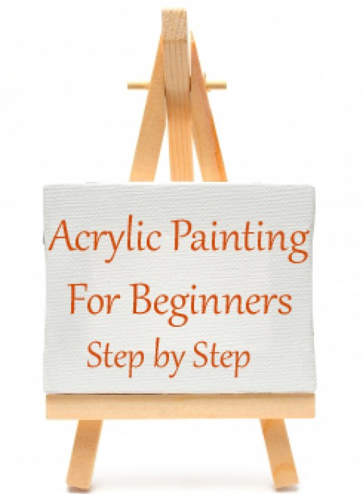 Acrylic painting for beginners step by step for Canvas painting tutorial for beginners