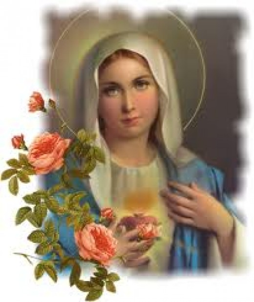 This is a beautiful picture of Mother Mary the Mother of Jesus. She was a virgin who gave birth to Jesus and she is spoken about in the New Testament of the Holy Bible.