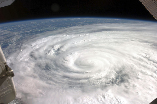Ike Comes Ashore Hurricane Ike covered more than half of Cuba in this image, taken by the Expedition 17 crew aboard the International Space Station from a vantage point of 220 statute miles above Earth. The center of Ike was near 22.4 degrees north