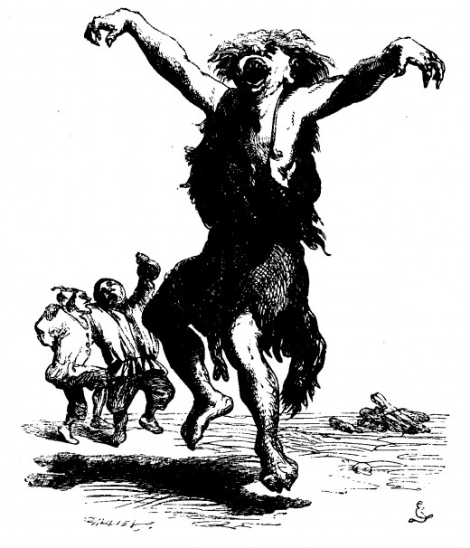 Sir John Gilbert: Caliban Dancing