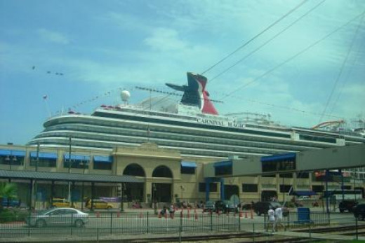 That thing is huge. Taken right before we boarded in Galveston, Texas.