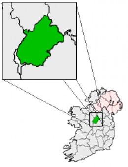 Map location of County Longford, Ireland