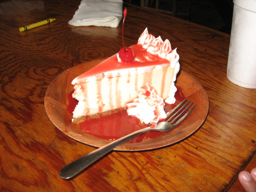 Crab Trap cheesecake