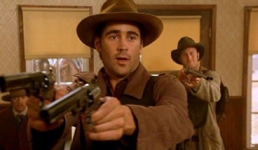 Colin Farrell as Jesse James in American Outlaws (2001)