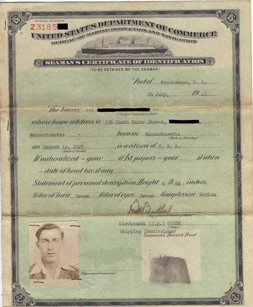 Some documents, like the Seaman's Certificate of Identification pictured above, may even have a picture of your ancestor.