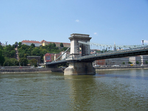 The Chain Bridge on the Danube in Budapest