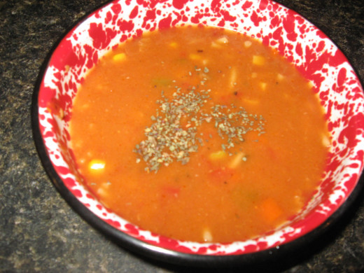 Easy recipes for beef soup include soy crumbles.