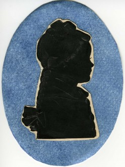 Restoration of a silhouette using Photoshop.