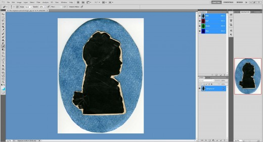 (5.) The image is imported into a Photoshop workspace as a Background.