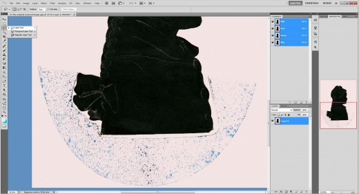 (9.) Select the 'Lasso tool' ...   The 'Magic Wand tool'  was not used successfully for this project!