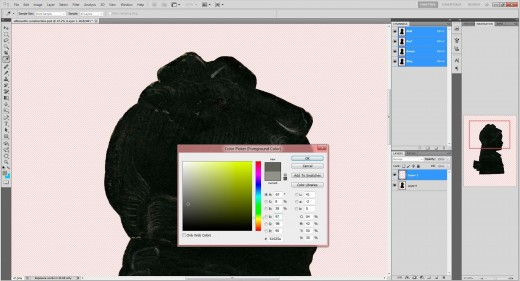(18.) Select 'Colour Picker' and set foreground colour by clicking dropper anywhere on white pencil line