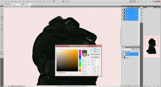 (20.) Select 'Colour Picker' and set background colour by clicking dropper anywhere on white pencil line.