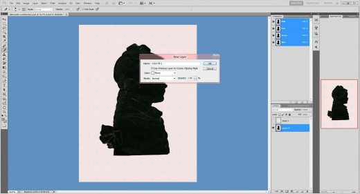 (24.) Click the 'Use previous Layer to Create Clipping Mask' box and make sure the tick is present. Then click 'Ok'