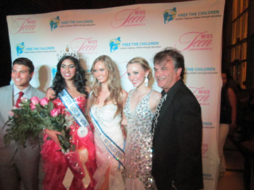 Luke Bilyk, Megha Sandu, Lauren Howe, 2012 Miss Teen Canada World  Beauty Queens and Zack Werner