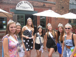Leigh Mundy, Crystal li, Jennifer Robitaille Miss Teen Canada in Distillery District