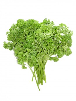 minced parsley can be combined on the chopping board with slices of garlic to get even tinier minced pieces.  Chop, chop!  The leaves are more aromatic than the stems.