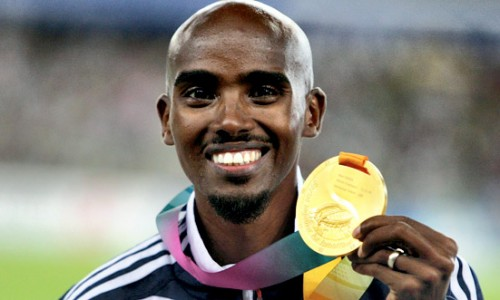 And there's Mo; Mo Farah take the gold in the 10k