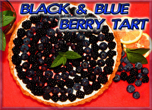 Fresh Blackberry and Blueberry Tart (Black and Blue Berry Tart)