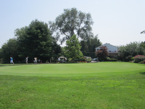Practice Chipping and Putting on the Beautiful Putting Green while you wait for your turn to Tee Off!