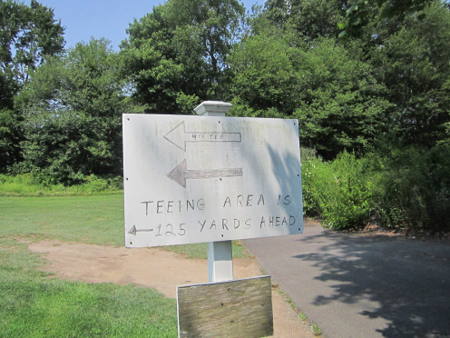 Turn Here to Access the Ninth Tee. It's Short...but it's Not Sweet!