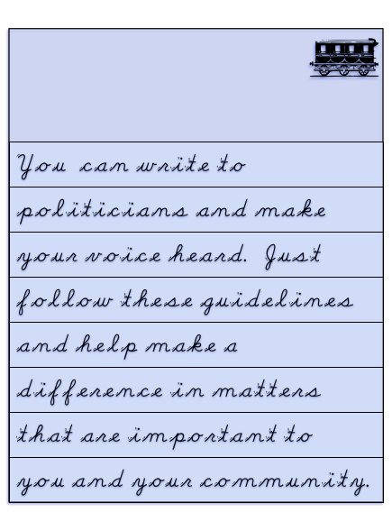 You Can Begin Writing To Politicians Today!