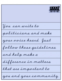 Write to Politicians: Contact Info and Guidelines