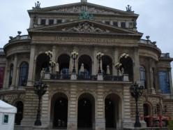 The Opera building in Frankfurt.