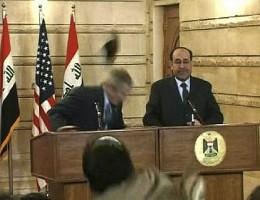 President Bush ducks for the second time