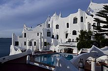 A livable sculpture, Paez Vilaro's  Casapueblo is a hotel, museum and his home.In Punta del Este Uruguay.