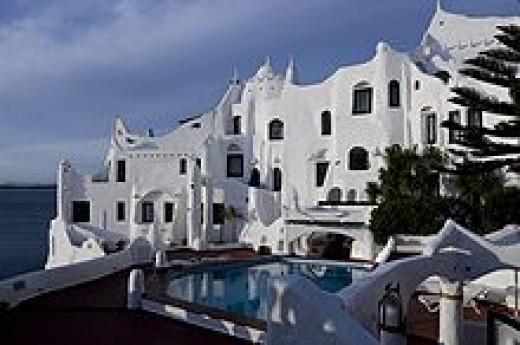 A livable sculpture, Paez Vilaro's  Casapueblo is a hotel, museum and his home.In Punta del Este Uruguay.