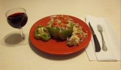 How to make Easy, Zesty Homemade Italian Stuffed Green Peppers