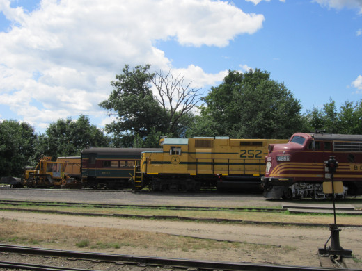 The Diesel Engines at North Conway Scenic Railroad.