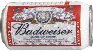 Budweiser beer, a good hangover cure