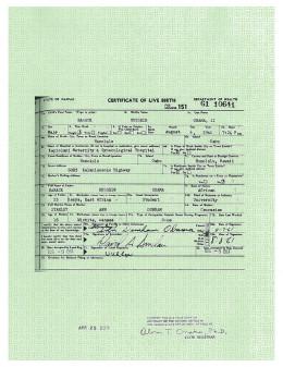President Obama's birth certificate.