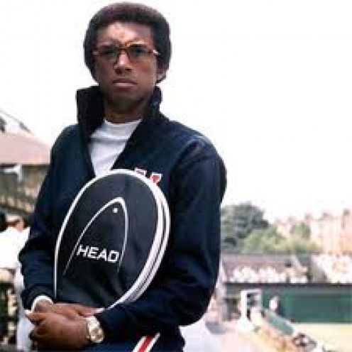 Arthur Ashe is a legendary tennis player who is in the Tennis Hall of Fame. He is famous for his on the court and off the court activities.