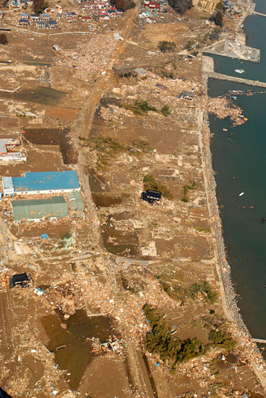 The tsunami and earthquake caused tremendous devastation to Japan