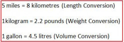 An Easy Way to Change Between Imperial and Metric Untis of Lenght, Weight and Volume.