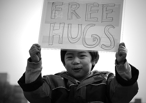 Free Hugs Campaign  http://www.flickr.com/photos/eelssej