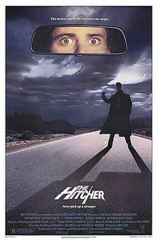 I met Eric Red, the writer of the movie The Hitcher. He and his crew took an instant liking to me and were fighting for my affections at all  of them as we shot the film and did Cocaine in the big warehouse closets on the set. He was very nice!